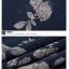 (Pre-Order) กระโปรงกางเกง ผ้าลินิน ผ้าพิมพ์ลาย แฟชั่นมาใหม่สไตล์เกาหลี (ลาย A ดอกไม้ Pteris ลาย B สีฟ้า) thumbnail 4