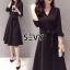 Sevy V-Neck Classy Black Ribbon Waist Dress Type: Dress Fabric: Spandex เนื้อผ้าเกรดดี เนื้อผ้ายืดหยุ่นได้ เนื้อผ้ามีน้ำหนักค่อนข้างมาก Detail : Dress ลุคเรียบหรู คอวี แขนยาว ชายแขนเสื้อผ่าขึ้นเล็กน้อย กระดุมผ่าหน้าใส่ง่าย มาพร้อมเชือกผ้าผูกเอว ใส่ออกมาแล thumbnail 3