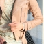 พรีออเดอร์ เสื้อแจ็คเก็ตหนัง เสื้อแจ็คเก็ตผู้หญิง เข้ารูปพอดีตัว สีชมพูอ่อน แต่งซิปเก๋ มีปก แฟชั่นเกาหลี thumbnail 2