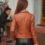 พร้อมส่ง เสื้อแจ็คเก็ตหนัง เสื้อแจ็คเก็ตผู้หญิง เข้ารูปพอดีตัว คอปก สีน้ำตาล แต่งซิปเก๋ แฟชั่นเกาหลี สำเนา thumbnail 3