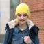 (Pre-order) หมวกไหมพรม เส้นใยสังเคราะห์ ถักทอเนื้อแน่น หมวกกันหนาวได้ดี แบบสวย เรียบง่าย แต่ไม่ธรรมดา สะท้อนความเป็นตัวของตัวเองของคุณ สีเหลือง thumbnail 1