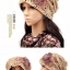 (Pre-order) หมวกคลุมผม หมวกไหมพรมผ้าฝ้ายถัก แฟชั่นหมวกคลุมผม สวยเก๋ ปักลวดลายตาข่าย-ดอกไม้ สีผ้าขนสัตว์ธรรมชาติ thumbnail 2