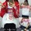 [พร้อมส่ง] เสื้อแจ๊คเก็ตกันแดดมีฮูด FOR THE สีแดง thumbnail 15