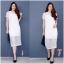 New !!! Maxi Dress ลูกไม้แขนสั้นงานถักลายตาราง ทรงสวย มีซับใน งานผ้านิ่มอย่างดี เนื้อผ้าถักลายแน่นๆ น่ารักมากๆๆ สี : ขาว ดำ thumbnail 2