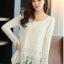 (Pre-Order) เสื้อลูกไม้ชีฟองแขนยาว สีพื้น เสื้อทำงานหรือลำลอง แฟชั่นเสื้อลูกไม้สไตล์เกาหลีปี 2014 thumbnail 11
