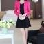 ชุดเดรสกระโปรงบานสีดำ+เสื้อสูท สีชมพูบานเย็น (ขายแยกชิ้น) thumbnail 2