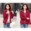 Pre-Order เสื้อโค้ทผู้หญิงแฟชั่น สีแดง มีฮู๊ด แขนยาว แฟชั่นเกาหลี thumbnail 1