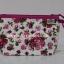กระเป๋าเครื่องสำอางค์ นารายา ผ้าคอตตอน พื้นสีขาว ลายดอกกุหลาบ สีชมพู มีสายคล้องแขน (กระเป๋านารายา กระเป๋าผ้า NaRaYa) thumbnail 1