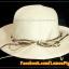 หมวกสาน คุณนาย สีขาวครีม พันเชือกน้ำตาล ครีม ร้อยลูกปัด สวยหวานมากๆ thumbnail 5