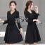 Sevy V-Neck Classy Black Ribbon Waist Dress Type: Dress Fabric: Spandex เนื้อผ้าเกรดดี เนื้อผ้ายืดหยุ่นได้ เนื้อผ้ามีน้ำหนักค่อนข้างมาก Detail : Dress ลุคเรียบหรู คอวี แขนยาว ชายแขนเสื้อผ่าขึ้นเล็กน้อย กระดุมผ่าหน้าใส่ง่าย มาพร้อมเชือกผ้าผูกเอว ใส่ออกมาแล thumbnail 7