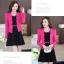 ชุดเดรสกระโปรงบานสีดำ+เสื้อสูท สีชมพูบานเย็น (ขายแยกชิ้น) thumbnail 5