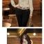 เสื้อทำงาน ผูกโบว์ที่คอเสื้อ แขนยาว ผ้าซาติน thumbnail 3