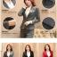 พรีออเดอร์ ชุดสูทกางเกงผู้หญิง สีเทา (เสื้อสูทแขนยาว+กางเกง) ผ้าผสม แฟชั่นเกาหลี thumbnail 5