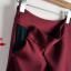 พรีออเดอร์ กระโปรงทำงาน กระโปรงเอวสูง เสื้อผ้าแฟชั่นสไตล์เรโทร จีบทวิส สีดำ thumbnail 4