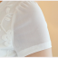 Pre-order เสื้อฤดูร้อนผ้ายืด ทอลูกไม้ คอวี สไตล์แฟชั่นเกาหลีแท้ สีขาว thumbnail 4
