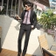 (Pre-Order) กางเกงทำงานผู้ชาย กางเกงขายาว กางเกงธุรกิจ ผ้าโพลีเอสเตอร์ สีดำ แฟชั่นกางเกงทำงานใหม่ แบบเรียบ ไม่จับจีบ thumbnail 1