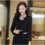 Pre เสื้อสูทผู้หญิง สูทบาง ฝีมือตัดเย็บระดับ High -end เสื้อผ้าแฟชั่นสไตล์เกาหลี แขนยาว สีดำ thumbnail 2