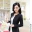Pre-Order เสื้อสูทแฟชั่นเกาหลี เสื้อสูทเข้ารูป แขนยาว ซับในครึ่งตัว ไม่มีปก สีลูกกวาด สีดำ thumbnail 2