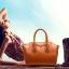(Pre-order) กระเป๋าหนังแท้ กระเป๋าสะพายผู้หญิง หนังเรียบ แบบคลาสสิค สไตล์ยุโรป อเมริกา สีน้ำตาล thumbnail 3