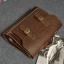 Pre-Order กระเป๋าสะพายผู้หญิง กระเป๋าเอกสาร หนังเทียม PU และสายสะพายยาวถอดออกได้ ติดซิปด้านบน สีน้ำตาล thumbnail 8