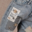 Pre-Order กางเกงยีนส์ฟอก สไตล์เรโทร ยีนส์ขาด เอวสูง ขายาว ปักหมุด ปะประดับผ้าลาย เนื้อผ้านิ่ม ไซส์ใหญ่ thumbnail 12