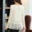 (Pre-Order) เสื้อลูกไม้ชีฟองแขนยาว สีพื้น เสื้อทำงานหรือลำลอง แฟชั่นเสื้อลูกไม้สไตล์เกาหลีปี 2014 thumbnail 14