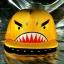 หมวกฉลาม ปากอ้า สีเหลือง (2 ปีก) ลายใหม่ หน้ากวน thumbnail 1