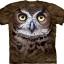 Pre.เสื้อยืดพิมพ์ลาย3D The Mountain T-shirt : Great Horned Owl Head thumbnail 1