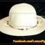หมวกสาน คุณนาย สีขาวครีม พันเชือกน้ำตาล ครีม ร้อยลูกปัด สวยหวานมากๆ thumbnail 3
