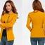 Pre-Order เสื้อสูททำงาน เสื้อสูทผู้หญิง สูทลำลอง แขนยาว แฟชั่นชุดทำงานสไตล์เกาหลี สีเหลืองคัสตาร์ด thumbnail 2