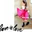 ชุดเดรสเด็กหญิง เดรสกระโปรงสีชมพู New Phelfish thumbnail 3