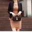พรีออเดอร์ เสื้อสูทแฟชั่นสไตล์เกาหลี เสื้อสูทผู้หญิง สูทสั้น คอวี มีปก แขนห้าส่วน กระเป๋าข้างมีฝา กระดุมเม็ดเดียว สีดำ thumbnail 3