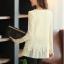 (Pre-Order) เสื้อลูกไม้ชีฟองแขนยาว สีพื้น เสื้อทำงานหรือลำลอง แฟชั่นเสื้อลูกไม้สไตล์เกาหลีปี 2014 thumbnail 8
