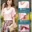 Pre-order เสื้อฤดูร้อนผ้าชีฟอง แขนใบบัว สไตล์ย้อนยุค แฟชั่นเกาหลีแท้ สีเหลือง thumbnail 4