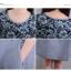 KTFN ชุดเดรสแฟชั่นเกาหลีผ้าฝ้ายพิมพ์ลายหน้าอก ตัดต่อกระโปรงสีเทาหม่นออกฟ้าๆ thumbnail 6