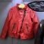 เสื้อแจ็คเก็ตหนัง Pu สีแดง thumbnail 2