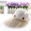 Pre-order หมวกแฟชั่น หมวกแก็ปปีกกว้าง หมวกฤดูร้อน กันแดด กันแสงยูวี สีกากีขาว thumbnail 2