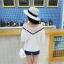 KTFNเสื้อแฟชั่นเกาหลี ลุคหวานๆ ตัดต่อลุกไม้ คอวีลูกไม้โครเชต์ สีขาว thumbnail 11