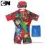 ฮ (สำหรับเด็กอายุ 6เดือน-14 ปี) ชุดว่ายน้ำเด็กผู้ชาย Benten สีแดง บอดี้สูทเสื้อแขนสั้นกางเกงขาสั้นสกรีนลาย Benten มาพร้อมหมวกว่ายน้ำและถุงผ้า สุดเท่ห์ ใส่สบาย ลิขสิทธิ์แท้ thumbnail 1