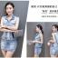 Pre-Order ขุดเสื้อแจ็คเก็ตยีนส์คอปกแขนกุด กระโปรงยีนส์สั้น ยีนส์ฟอกสีประดับเพชร แฟชั่นเกาหลี thumbnail 7