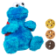 z Sesame Street Count and Crunch Cookie Monster Plush Habro thumbnail 1