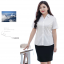 (Pre-order) เสื้อเชิ้ตทำงาน เสื้อเชิ้ตผู้หญิงแขนสั้น สีขาว ไซส์ใหญ่ thumbnail 2