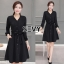 Sevy V-Neck Classy Black Ribbon Waist Dress Type: Dress Fabric: Spandex เนื้อผ้าเกรดดี เนื้อผ้ายืดหยุ่นได้ เนื้อผ้ามีน้ำหนักค่อนข้างมาก Detail : Dress ลุคเรียบหรู คอวี แขนยาว ชายแขนเสื้อผ่าขึ้นเล็กน้อย กระดุมผ่าหน้าใส่ง่าย มาพร้อมเชือกผ้าผูกเอว ใส่ออกมาแล thumbnail 6