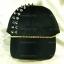 หมวกแก๊ป Cap สีดำ แต่งหมุดหนามสีเงิน 2 แถว ร้อยโซ่ thumbnail 1