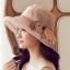 Pre-order หมวกผ้าไหมติดโบว์แฟชั่นฤดูร้อน กันแดด กันแสงยูวี สวยหวาน สีกาแฟอ่อน thumbnail 1