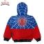 """"""" S-M-L-XL """" เสื้อแจ็คเก็ต Spiderman เสื้อกันหนาว เด็กผู้ชาย สีน้ำเงิน รูดซิป มีหมวก(ฮู้ด) ใส่คลุมกันหนาว กันแดด สุดเท่ห์ ใส่สบาย ลิขสิทธิ์แท้ (ไซส์ S-M-L-XL ) thumbnail 6"""