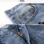 (Pre-order) กระโปรงยีนส์ ปักรูปผีเสื้อดอกไม้ ทรงตรง สีบลูยีนส์ thumbnail 8