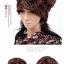 (Pre-order) หมวกคลุมผม หมวกไหมพรมผ้าฝ้ายถัก แฟชั่นหมวกคลุมผม สวยเก๋ ปักลวดลายตาข่าย-ดอกไม้ สีน้ำตาล thumbnail 2