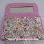 กระเป๋าเครื่องสำอางค์ นารายา ผ้าคอตตอน ลายหยดน้ำ สีชมพู มีกระจกในตัว Size L (กระเป๋านารายา กระเป๋าผ้า NaRaYa) thumbnail 5