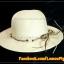 หมวกสาน คุณนาย สีขาวครีม พันเชือกน้ำตาล ครีม ร้อยลูกปัด สวยหวานมากๆ thumbnail 1
